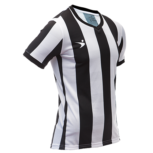 Jersey Deportivo Rayada (Blanco y Negro)