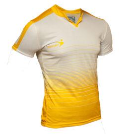 8a2b9b397d492 Jersey cuello Mao blanco con amarillo